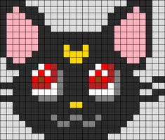 Luna Sailor Moon Perler Bead Pattern