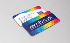 Nuestras tarjetas de presentación, parte de la identidad corporativa de Ambros Imprenta Digital y Estudio de Diseño