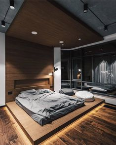 Inspiring Bedroom 👍 By Taras Kaminsky Home In 2019 Loft is part of Loft interior design - Industrial Bedroom Design, Loft Interior Design, Luxury Bedroom Design, Home Room Design, Master Bedroom Design, Home Decor Bedroom, Bedroom Designs, Loft Design, Industrial Storage