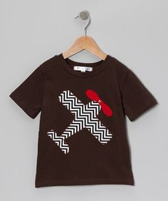 Take a look at this Brown Chevron Airplane Tee - Infant, Toddler & Boys by mini scraps on #zulily today!