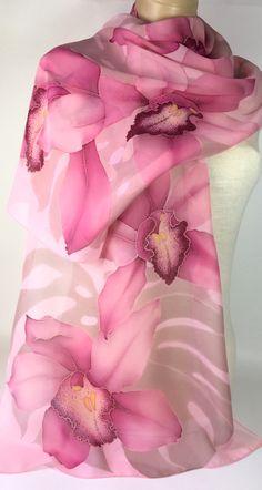 Super Sewing Tutorials For Women Blouses Fabrics 26 Ideas Eagle Painting, Fabric Painting, Fabric Paint Designs, Flower Background Wallpaper, Batik Art, Pink Orchids, Silk Art, Embroidery Fashion, Silk Scarves