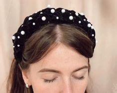 Brooklyn braided velvet headband stylish chunky fashionable hairband for women Thick Headbands, Hair Beads, Headband Hairstyles, Brooklyn, Women Accessories, Braids, Velvet, Stylish, Womens Fashion