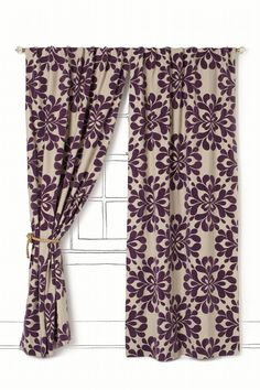 I love these curtains. The only place I can think to put them is on the window in my closet. So tempting.