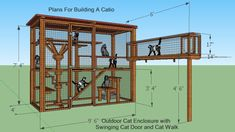 cat house diy outdoor how to build * cat house diy . cat house diy how to build a . cat house diy outdoor how to build . Diy Cat Enclosure, Outdoor Cat Enclosure, Reptile Enclosure, Cat House Plans, Cat House Diy, Tiny House Blog, Tiny House Design, Cage Chat, Outdoor Cats