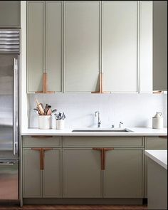 I love these kitchen cabinet handles - great design idea!