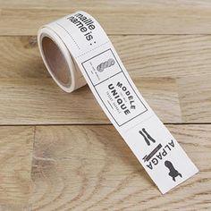 Surtido de etiquetas de tela 3 cm - Textos en francés - 36 etiquetas - Fotografía n°2