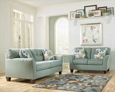 Shop Kylee - Lagoon 2 Pc Living Room Set with great price, The Classy Home Furniture has the best selection of to choose from Classic Living Room, New Living Room, Living Room Sets, Sofa And Loveseat Set, Cushions On Sofa, Fabric Sofa, Furniture Factory, Furniture Sale, Furniture Mattress