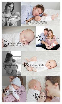 4 week old newborn baby and parents pose for Atlantic Highlands Newborn Photographer Tara McGlinchey.