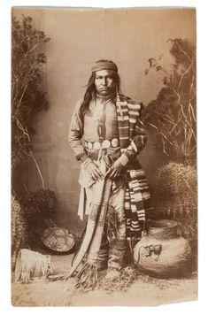 rank Randall Photograph of Chiricahua (Apache) Young Man in Headdress,