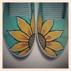 teal painted shoes - Google Search