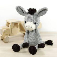 """Tullus (@kristitullus) on Instagram: """"Donkey pattern is ready! Take a look on kristitullus.com or kristitullus.etsy.com #amigurumipattern…"""""""