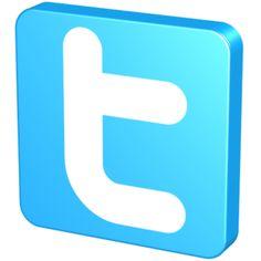 Blue Twitter clip art