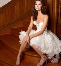 Fabulous Sexy Sweetheart Mini Length Beaded Beach Wedding Dress short wedding dress. $169.00, via Etsy.