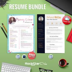2Resume Templates + FREE CoverLetter by Resume Templates on Creative Market