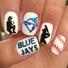 Bluejays Nails Baseball