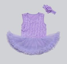 >> Click to Buy << Pinkbabi Baby Rompers 2PCs per Set Light Purple Baby Girl Tutu Dress Romper Headband for 0-12Months Free Shipping #Affiliate