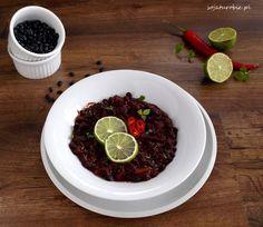 sojaturobie: Wegetariańskie chili z czarną fasolą i burakami