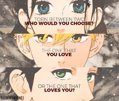 Choose the one that fuckin loves you! Best choice youll ever make. Manga: Hirunaka no Ryuusei