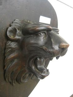 Victorian Wood Carving of a Lion's Head
