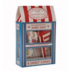 Hope & Greenwood Sweet Cones with Holder (pack of 8)