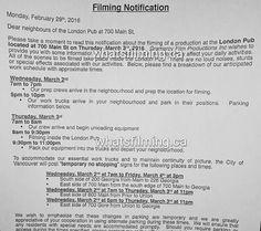 FSD Filming schedule info