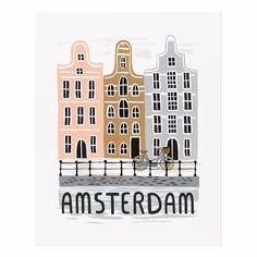 Bon Voyage Amsterdam 16x20 Art Print