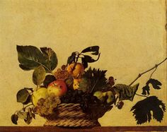 Basket of Fruit 1595-1596, Caravaggio