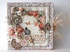 Great Times Mini Album by Ingrid Gooyer, Aug 2012 - This is really lovely! Scrapbook Cover, Mini Scrapbook Albums, Scrapbook Cards, Scrapbooking Shabby, Mini Albums, Mini Album Tutorial, Shabby Chic Cards, Album Book, Pretty Cards
