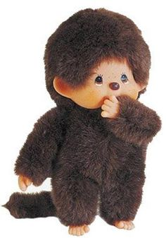 Things from my past....the monchichi...I don't remember these, but I  bet someone does...Is it a Cabbage Patch doll???