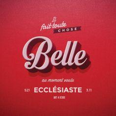 TABLEAU BELLE ECCLÉSIASTE 3.11 - 20CM X 20CM
