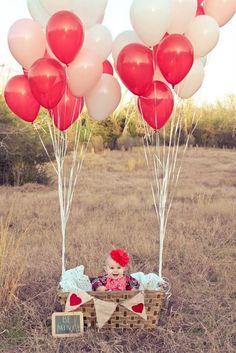 baby balloons photo idea
