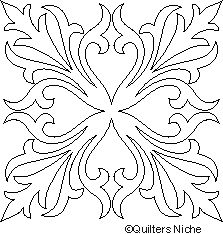 black and white images of stencil motif