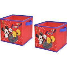 Disney Mickey Mouse Storage Cubes, Set of 2