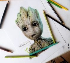 Drawing Baby Groot Guardians Of The Galaxy