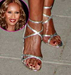 Ouch! if supermodel Iman keeps wearing those crazy shoes, she'll be well on her way to developing hammertoes