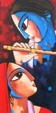 Super art gallery show oil paintings 48 Ideas African Art Paintings, Modern Art Paintings, Oil Paintings, Krishna Painting, Krishna Art, Madhubani Painting, Indian Contemporary Art, Indian Folk Art, India Art