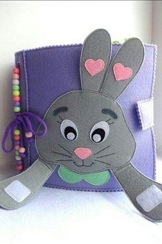 """Sabinenok"" - Toys from felt. Diy Busy Books, Diy Quiet Books, Baby Quiet Book, Felt Quiet Books, Toddler Books, Toddler Gifts, Quilt Book, Silent Book, Sensory Book"