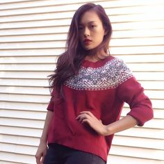 *HP!* Holiday Asymmetric Wool Sweater This comfy sweater is perfect for staying cozy yet in style during this cold season! Size: L (Fits size S/M for the oversized look) | Material: 40% Wool 30% Acrylic 30% Nylon | Gently worn x3, in good condition. **Host picked for BEST IN SWEATERS, JACKETS & COATS Party! 12/22** Willi Smith Sweaters Crew & Scoop Necks