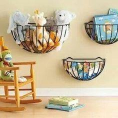 Plant baskets = toy storage