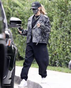 Hayley Bieber, Custom Leather Jackets, Future Clothes, Hailey Baldwin, Clothing Company, Casual, Street Wear, Sweatpants, Street Style