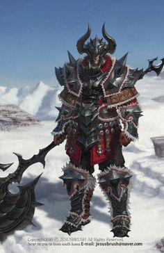 winter  Warrior, namho baek on ArtStation at https://www.artstation.com/artwork/9R8aq