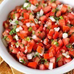 Pico De Galo Salsa- My Fav, U should try it! LOVE IT!