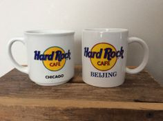 Hard Rock Cafe Coffee Cup Mug 12 oz Chicago & Beijing Collectors