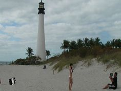 Cape Florida Lighthouse of 1825- Key Biscayne, Boarding Norwegian Pearl-...