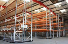 #PalletRacking installation with fork-lift #GuideRails supplied to all areas