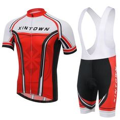 Men s Red Short Sleeve Cycling Jersey Set  Cycling  CyclingGear   CyclingJersey  CyclingJerseySet 7ed6937b4