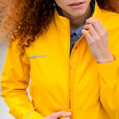 As Bold As Ladies Cycling Roadster Jacket - Yellow | Truly stylish cycling coatCyclechic | Cyclechic