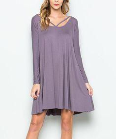 ad083b27fc3806 Aime Clothing Mauve Cutout Shift Dress
