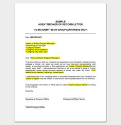 Appointment letter for company representative 1 letter templates sample insurance agent appointment letter altavistaventures Image collections