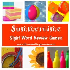 As I posted with myJune Writing Prompts, I was amazed to find out that if kids don't keep their brains active during the summer months, they can lose up to 60% of what they learned from the school year! So, I'm going to spend each Monday of this summer posting sight word activities and games ... Read More about Summertime Sight Word Review Game Series Sight Word Games, Sight Word Activities, Reading Activities, Hands On Activities, Sight Words, Activities For Kids, Learning Games, Kids Reading, Teaching Reading